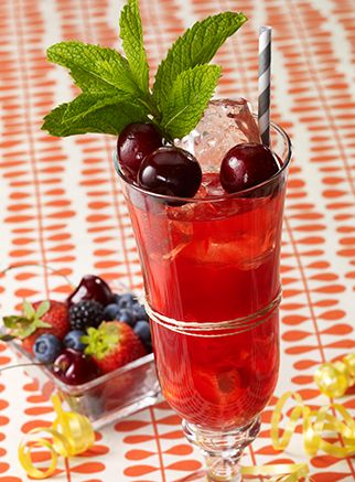 Cherry Cobbler - Pink Moscato + Black Cherry Vodka + Sour Mix