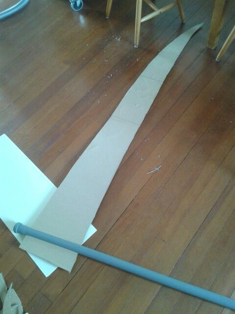 Maka's huuuge scythe. She also got everything in the property market. Will be covered with expanding foam too :)