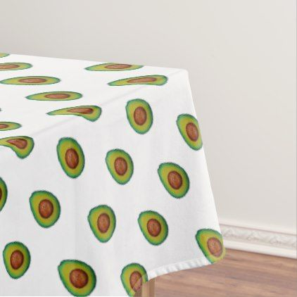 Merveilleux Avocado   Modern Fun Food Pattern Tablecloth   Pattern Sample Design  Template Diy Cyo Customize