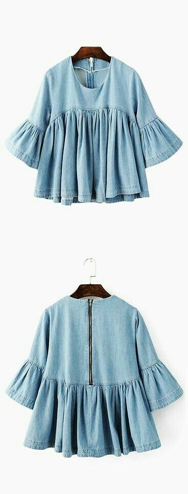 jean bell sleeve top
