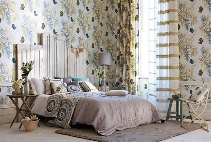 BOHEME LINENS A comprehensive collection of linens in a colour palette which perfectly complements the Jardin Bohème collection.