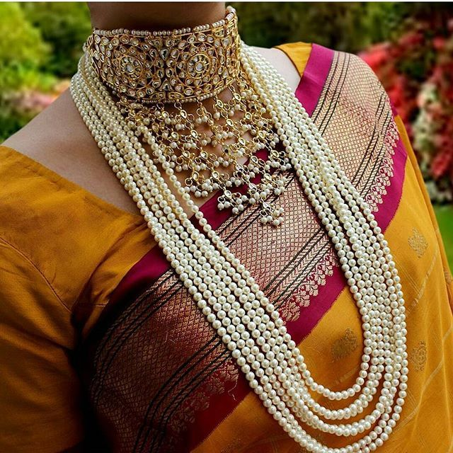 indianstreetfashion: Sunday morning jewellery inspiration #choker #pearls #7layer #jewellery #indianjewellery #indianstreetfashion