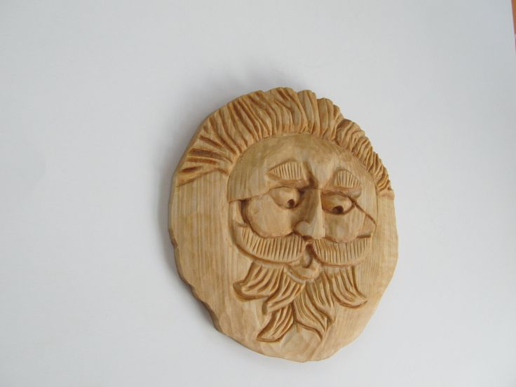 Wood Carving Wood Spirit Wall Hanging Art Wood Sculpture Unique Gift Idea Perfect Gift for Him Special Gift for Dad Tree Spirit Valentine by NorthWindCarvings on Etsy