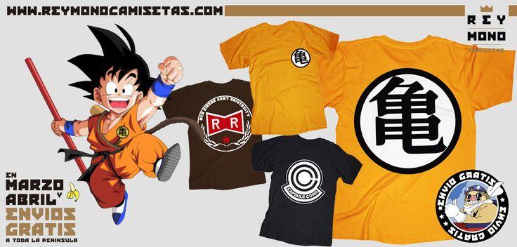 Sólo Pienso En Camisetas: Camisetas de Dragon Ball en Rey Mono