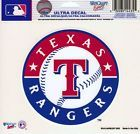 Texas Rangers MLB 5x6 Color Ultra Cling Decal Sticker Red White Blue Circle Logo