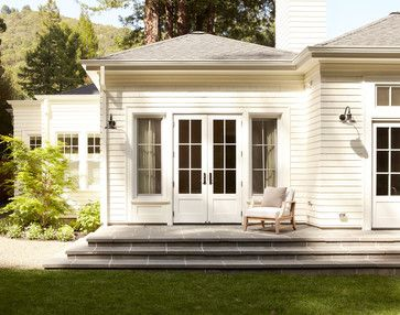 bluestone steps and French doors