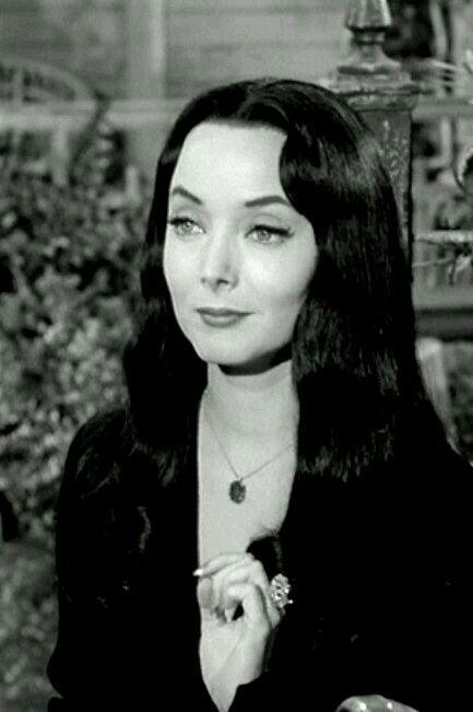"~ † Carolyn Jones As Morticia Addams † In The 1960"" s Addams Family †"