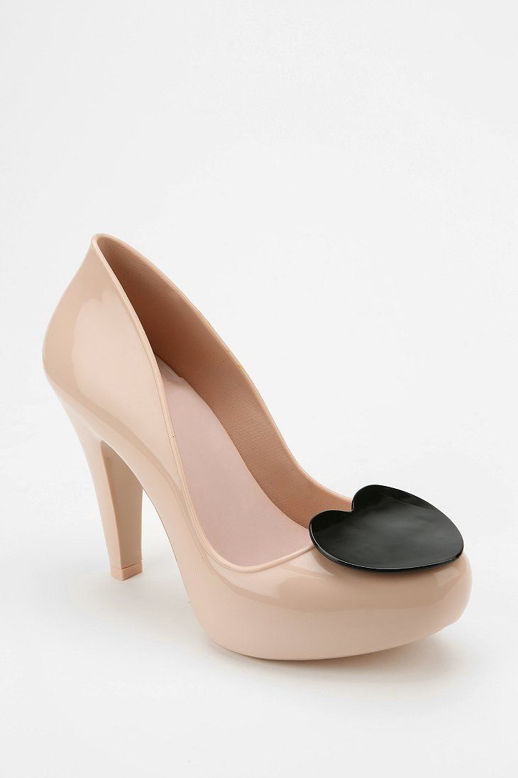 Mel By Melissa Shoes Raspberry Heart Jelly Heel