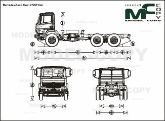 Mercedes-Benz Atron 2729P 6x4 - чертеж