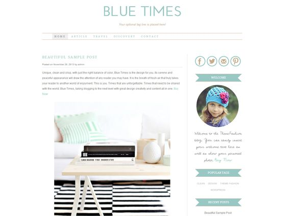 Check out Wordpress Template - Blue Times by Theme Fashion on Creative Market