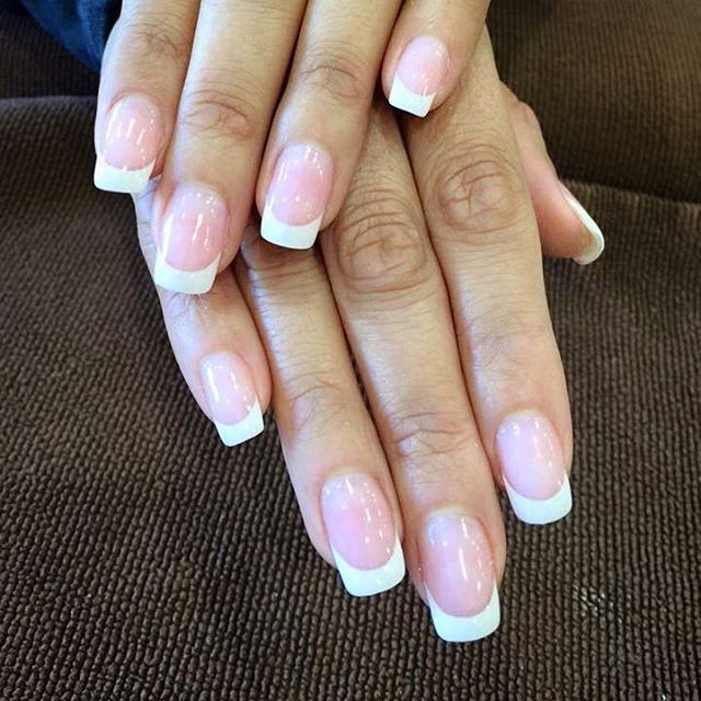 The Perfect French Dipping Powder Manicure Sns Nails Powder Manicure Powder Nails Dip Powder Nails