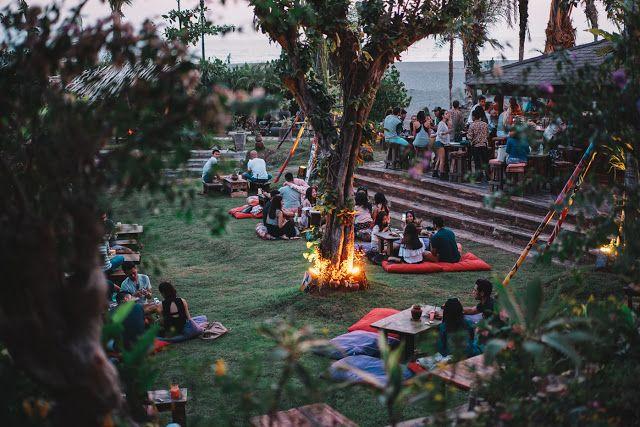 Sunset drink in La Laguna, Canggu, Bali