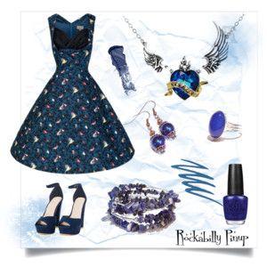 Blue Bird Rockabilly Pinup