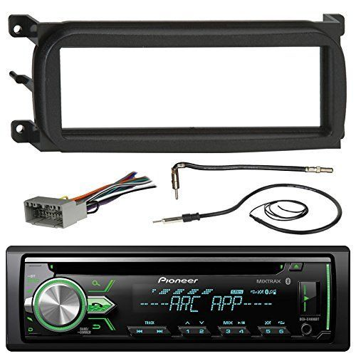 Pioneer DEHX4900BT Bluetooth CD Car Stereo Audio Receiver  Bundle Combo W Metra Dash Kit For 1998Up ChryslerDodgeJeep Vehicles  Antenna Adapter Cable  Radio Wiring Harness  Enrock Antenna * You can find out more details at the link of the image.