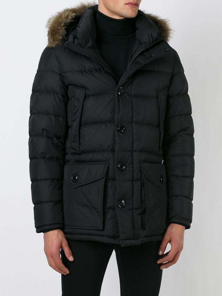 #moncler #men #cluney #black #padded #jacket #parka #fur www.jofre.eu
