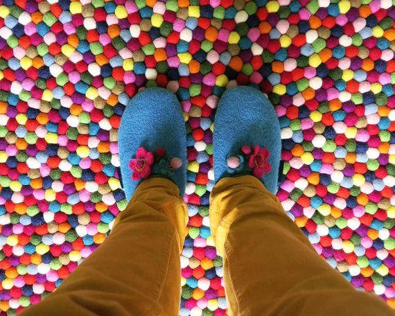 Alisha Rond Pinocchio Tapis Multicolore Ronde Dans Par Sukhirugs