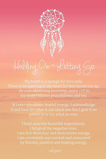 Affirmation - Holding On ~ Letting Go by CarlyMarie