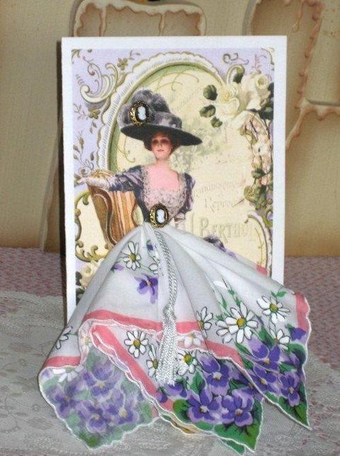 Днем рождения, платок открытка