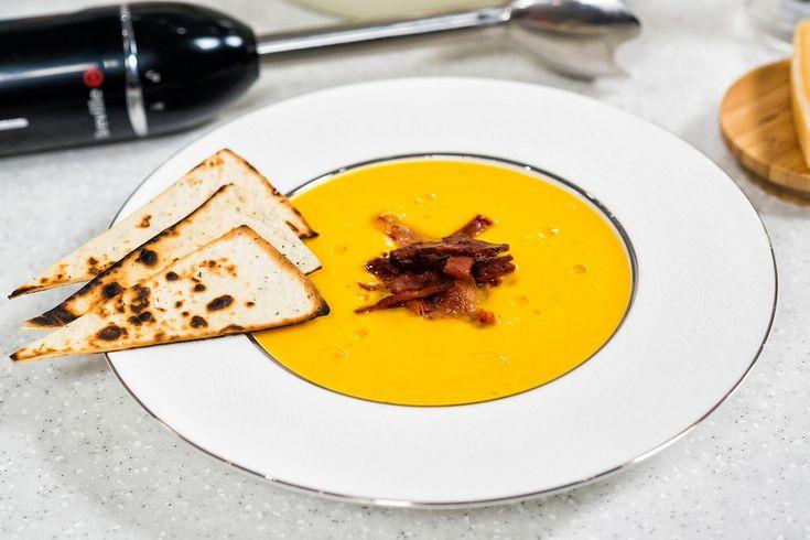 Supa crema de cartofi dulci la Hand Blender Breville