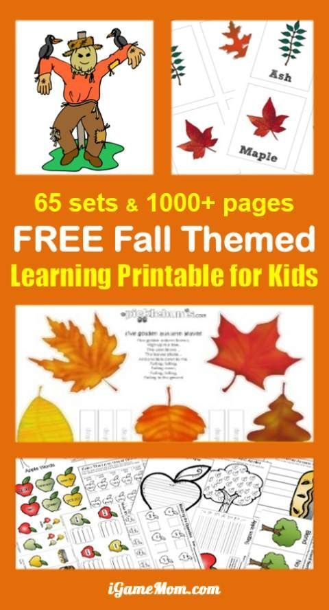 65 Sets Of Free Fall Themed Printable For Kids Over 1000 Pages