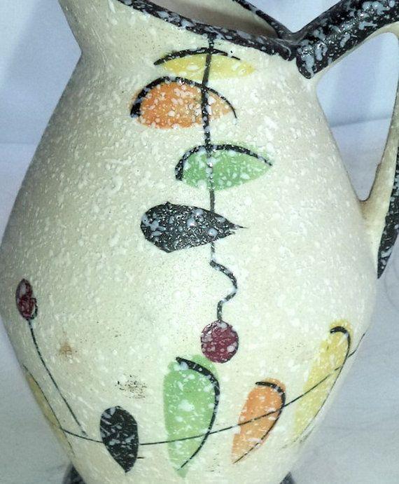 Signed 50s Jug Vase Japanese Vintage Retro Mid by MushkaVintage3