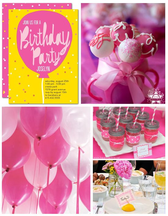 Make the most of a simple theme like pink balloons by carrying your color and motif throughout all aspects of the event and adding creative touches.