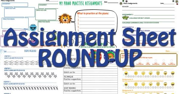 Finding the perfect piano assignment sheet that fits your teaching style can be…