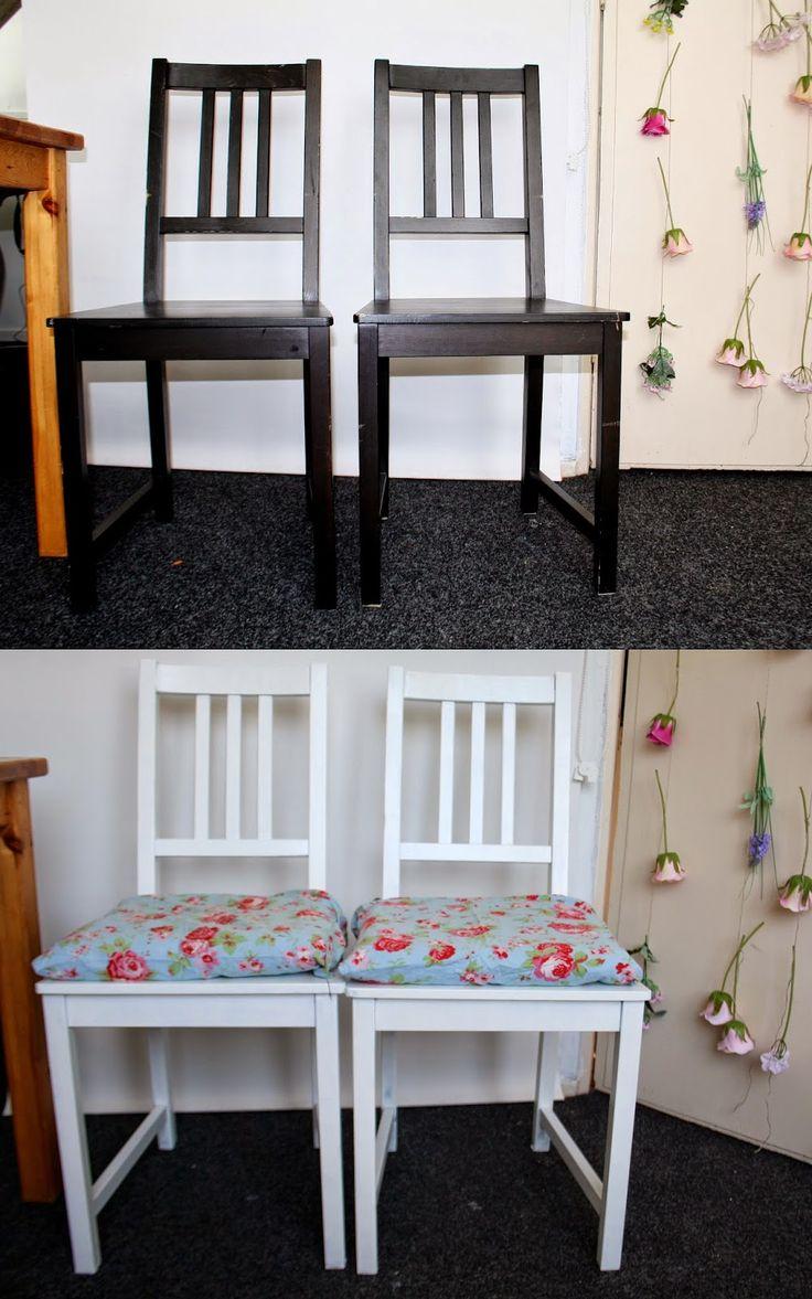 Boncolor: DIY: saaie stoelen mooi maken