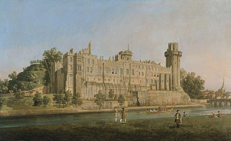 La fachada sur del castillo de Warwick - Canaletto (Giovanni Antonio Canal)   Museo Thyssen