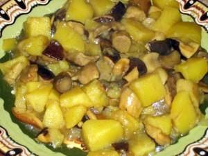 Печеный картофель с грибами. Готовим дома. Фоторецепт