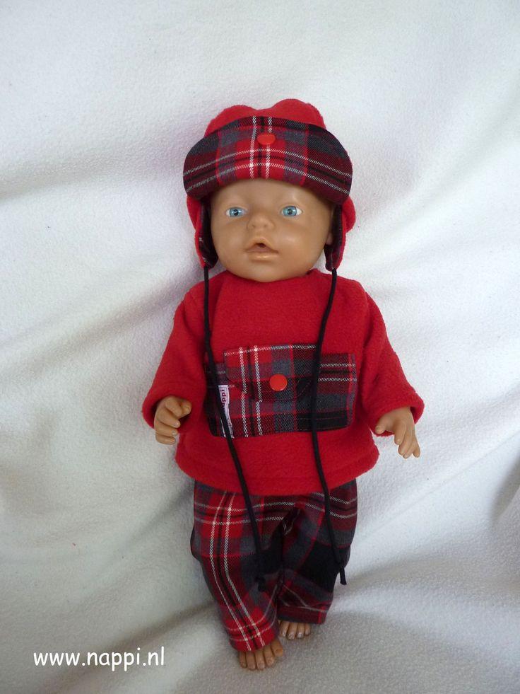 Jongenskleding / Baby Born 43 cm   Nappi.nl trui, muts en broek patroon Christel Dekker