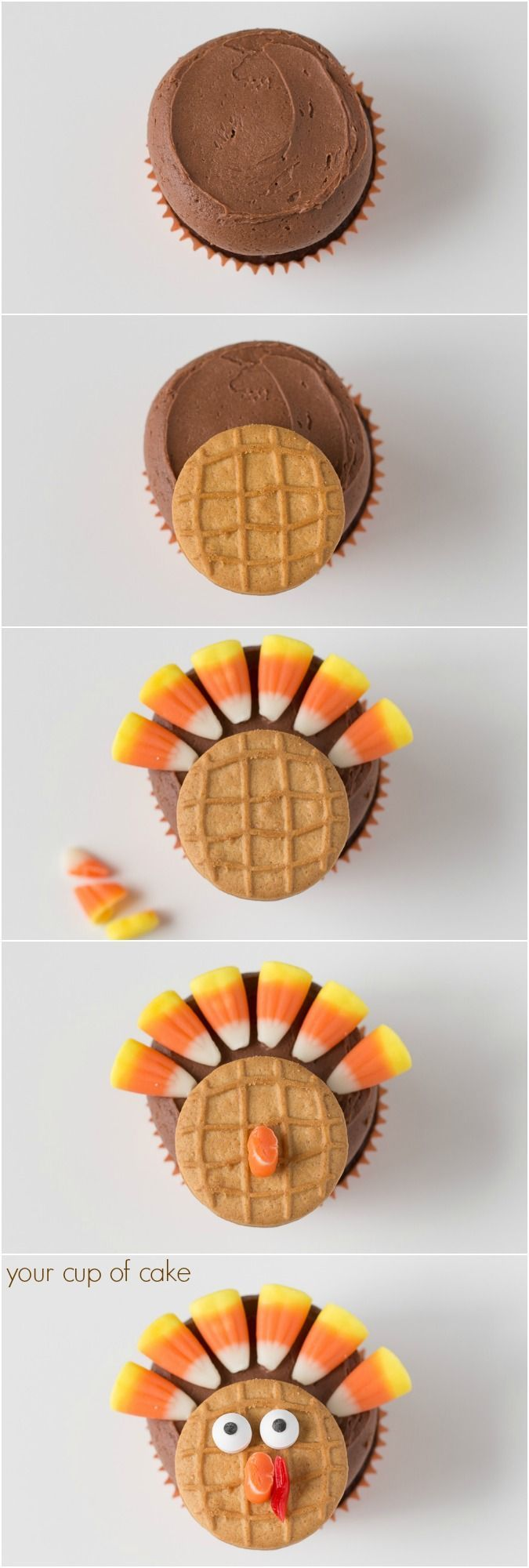 How to make Chocolate Turkey Cupcakes for Thanksgiving!