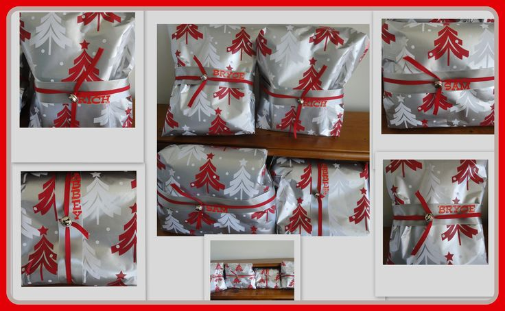 """Image Only ... Wrap, Ribbons, Bells & Letter Stickers   .....      """" Christmas Wrapping Begins """""""