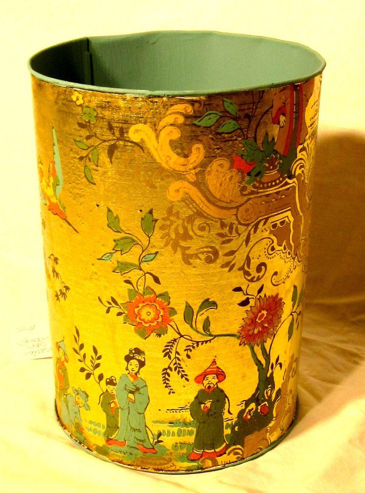99 Best Waste Paper Cans And Hampers Images On Pinterest Baskets Hampers And Vintage Metal