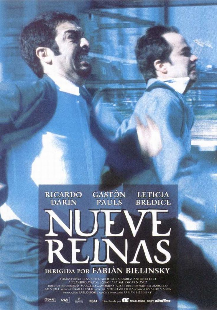 "2000 - ""Nine Queens"" - Two small-time grifters (Ricardo Darin and Gastón Pauls) endure a series of tense negotiations when they attempt to sell a sheet of counterfeit stamps for a hefty sum, but the process is made more stressful when one of the con men's estranged sister (Leticia Bredice) becomes involved. Fans of American writer David Mamet will appreciate the twists in this Argentinean caper from writer-director Fabián Bielinsky."