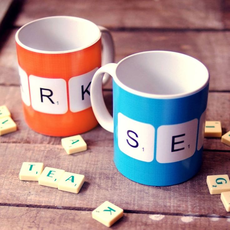 Personalised 'Scrabble' Mugs