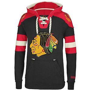 Chicago-Blackhawks-CCM-Vintage-NHL-Classic-Fleece-Pullover-Sweatshirt-Hoodie