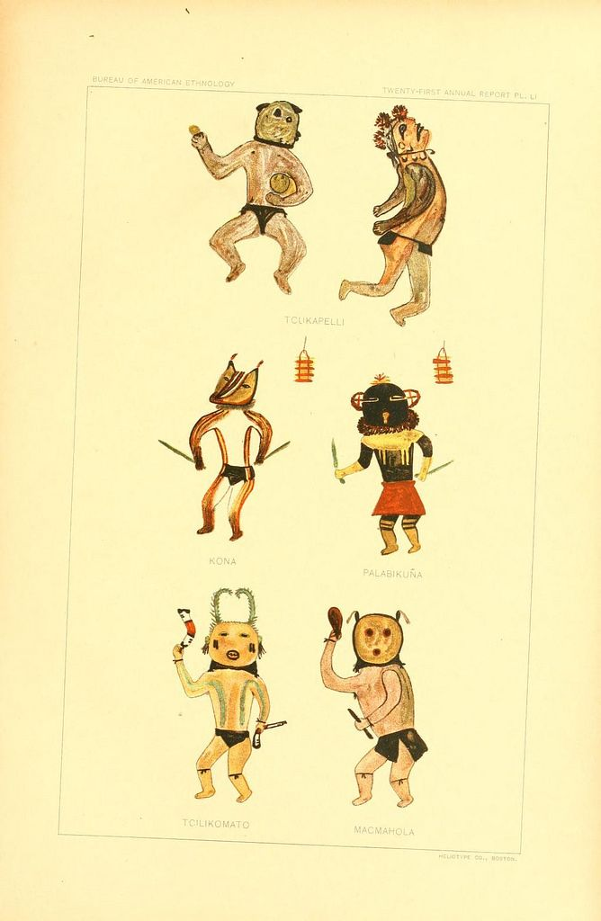 Hopi Drawings of Kachinas (1903) | The Public Domain Review