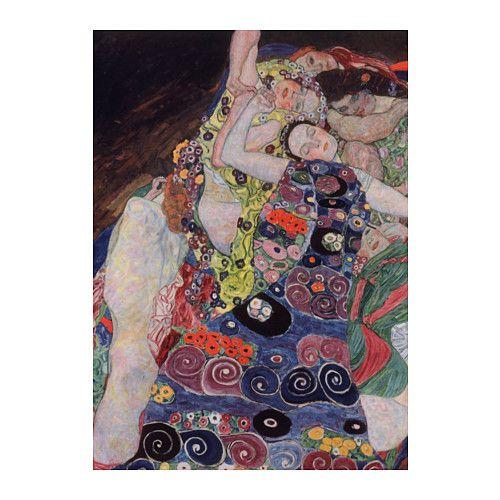 IKEA - BJÖRKSTA, Bild, Motiv von Gustav Klimt.Durch Kunst, die den eigenen Stil ausdrückt, lassen sich Wohnräume persönlich gestalten.Leinwand und Rahmen sind jeweils für sich in einem Paket verpackt.