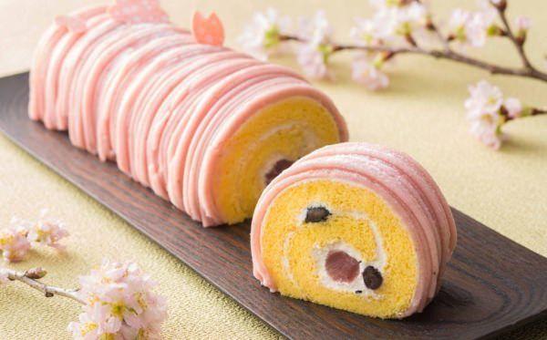 """""""桜餅"""" がロールケーキに? ザ・キャピトルホテル東急「桜のロールケーキ」 cake roll"""