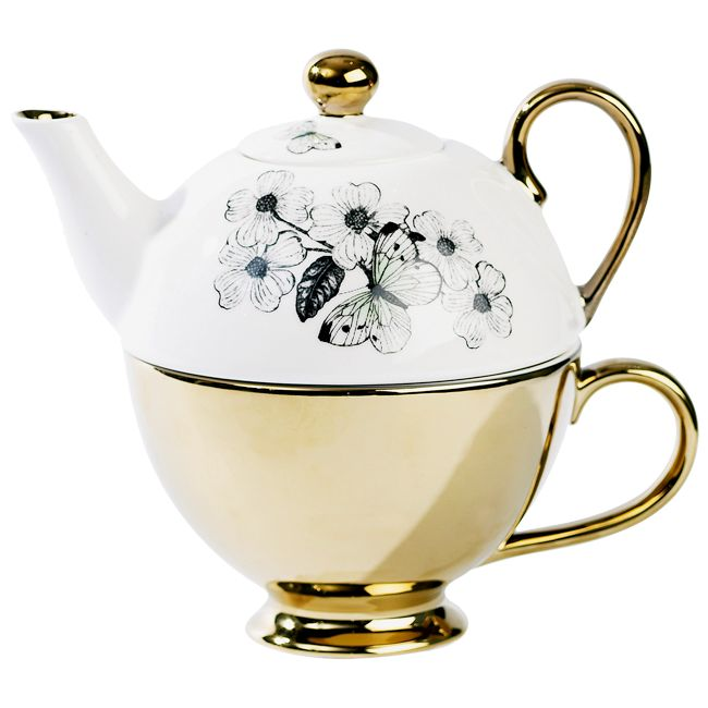 Miss Etoile Butterfly Tea for One Teapot with Teacup - Twinings Online Tea Shop