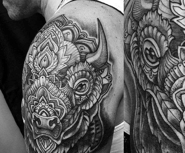 Top 63 Bison Tattoo Ideas 2020 Inspiration Guide Bison Tattoo Tattoos Buffalo Tattoo