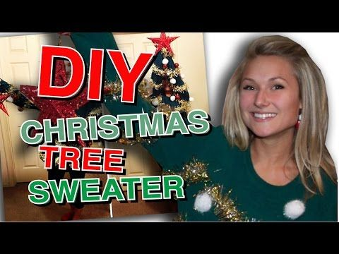 DIY Ugly Christmas Tree Sweater - YouTube