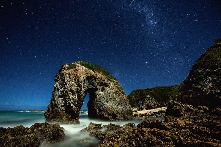 Horsehead Rock under the stars