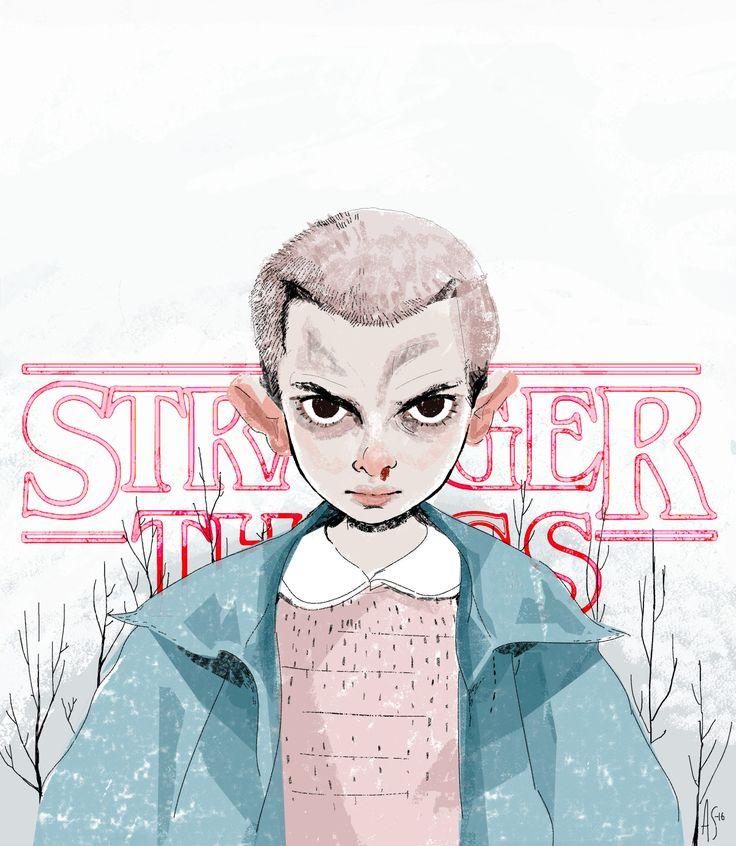 Eleven Stranger Things by Annaratjik (Anna Sæbjørnsen) Character design, Fan poster