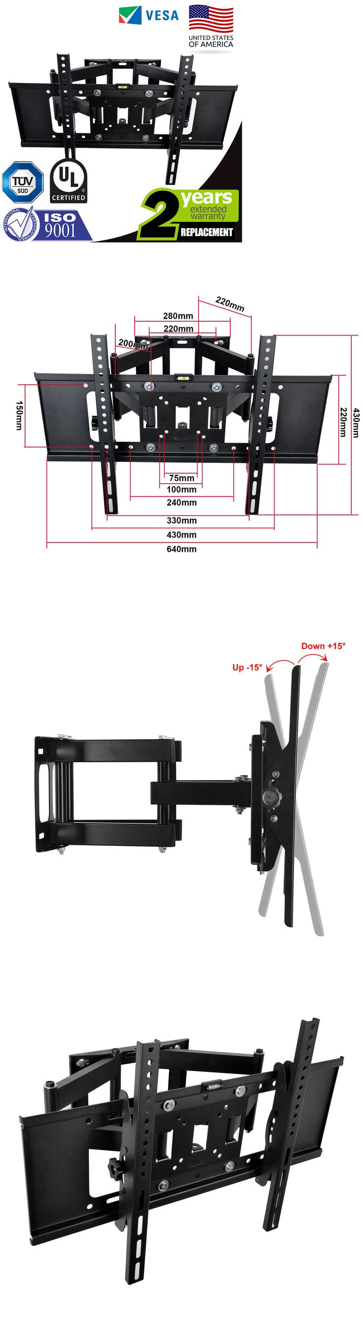 TV Mounts and Brackets: Articulating Swivel Tilting Tv Wall Mount Bracket 32 40 46 50 55 60 65 70 -> BUY IT NOW ONLY: $31.49 on eBay!