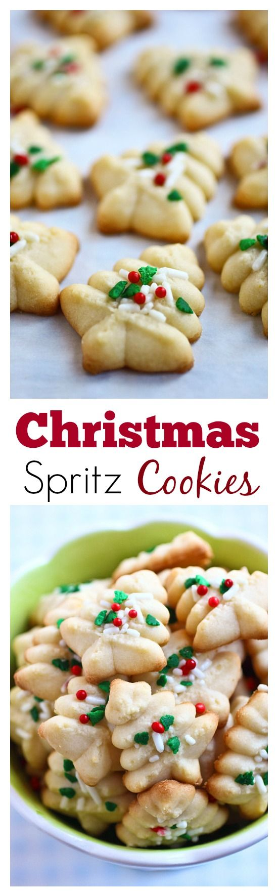 Spritz Cookies – BEST, buttery, melt-in-your-mouth crumbliest Christmas Spritz cookies ever! Super easy recipe that anyone can bake this holiday season | rasamalaysia.com