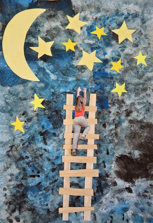 Chtěli bychom se dotknout hvězd - VV – Veronika Prouzová – Webová alba Picasa - 1. třída - tempery, dýha, foto žáčka a barevný papír