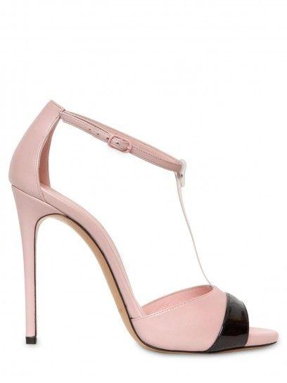 Sandalo Casadei t-bar con cinturino in rosa e nero