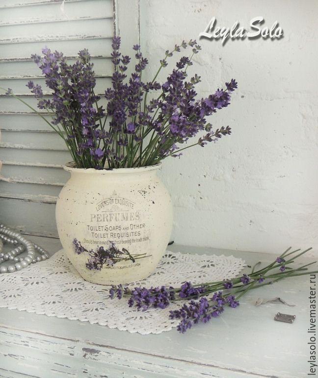 Купить Крынка керамическая ваза Лавандовый край - крынка, крынка керамическая, крынки, подарок, лаванда